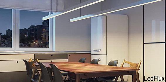 дизайн и освещение на кухне