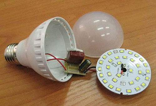 Замена светодиода в лампе