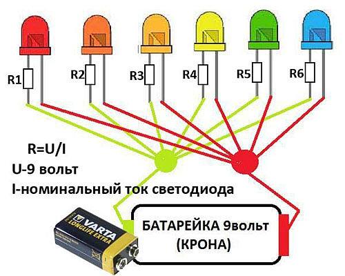 Сколько вольт светодиод