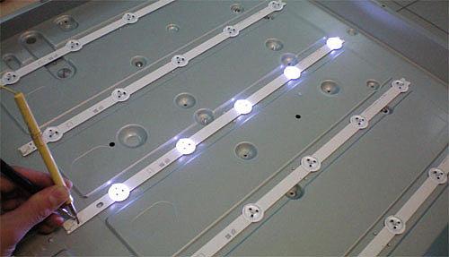 Проверка светодиодов подсветки телевизора