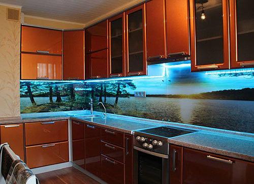 led-лента на кухне