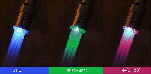 Подсветка воды в кране